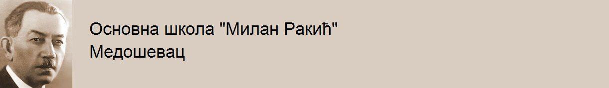 Основна школа Милан Ракић Медошевац